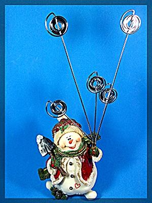 Snow Man Christmas Card holder (Image1)