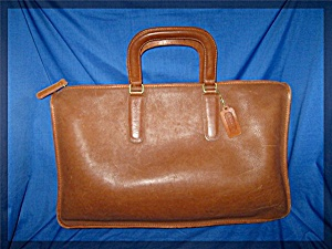 Briefcase Coach Leather British Tan Bonnie Cashin