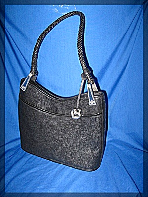 Brighton Black Tan Pebble Leather Bag