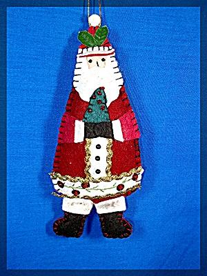 Handmade Santa Claus ornament - felt .... (Image1)