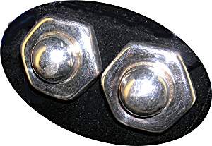 Taxco Mexico Sterling Silver  Clip Earrings (Image1)