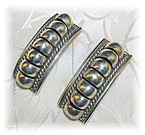 Sterling Silver Signed P A Post Earrings (Image1)