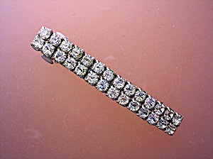 Crystal Silvertone Hair Barrette