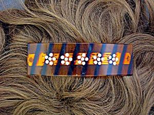 Crystal Flower Lucite Hair Barrette (Image1)
