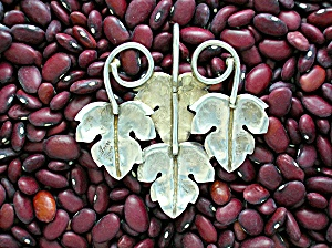 Sterling Silver Leaves Pendnt Signed MONFREDE (Image1)