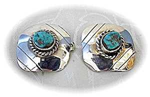 Turquoise Sterling Silver Clip Earrings Usa