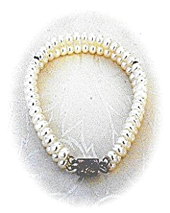 Freshwater Pearl Sterling Silver Clasp Bracelet