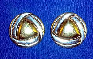 Sterling Silver and Brass Designer SIMON SEBBAG Earring (Image1)
