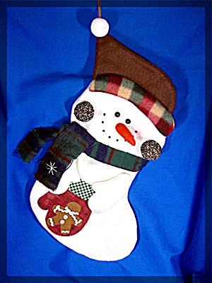 Snowman Christmas Stocking...................... (Image1)