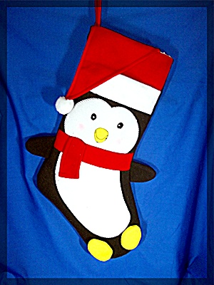 Penquin Christmas Stocking in fleece..... (Image1)