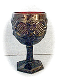 Avon 6 Inch Deep Red Cape Cod Wine Goblets (Image1)