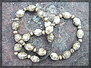 Necklace Shells Nauga Land Cream Tan (Image1)