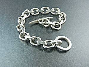 Sterling Silver Danish Link Bracelet. 60 Grams
