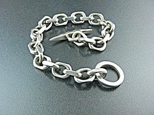 Sterling Silver Danish link Bracelet. 60 grams (Image1)