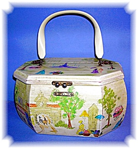 Hand Painted Signed Annie Laurie Box Bag (Image1)