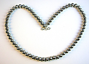 Necklace Sterling Silver Machine Beads (Image1)