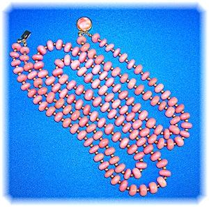 Dark Pink Rose Quartz Double Necklace (Image1)