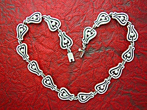 Sterling Silver Mexico MWS Signed Necklace 18 Inch (Image1)