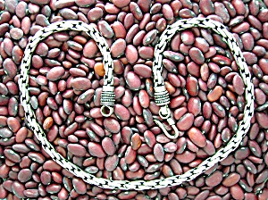 Necklace  Sterling Silver  18 Inch Chain Bali 63gram (Image1)