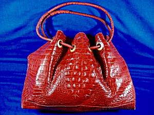 Brahmin Red Leather Trina Drawstring Handbag (Image1)