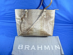 Brahmin Moonlight Croc Leather Melbourne Handbag