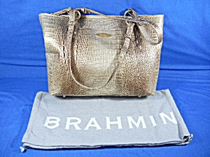 Brahmin Tan Croc Leather Tote Bag Dust Bag