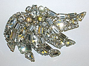 KRAMER 3 Inch Marquise Round Baguette Crystal Brooch (Image1)