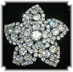 WEISS Crystal 2 1/8 inches Star Brooch (Image1)