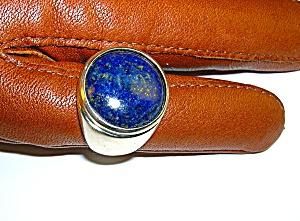 Sterling Silver Bezel Set Blue Lapis Ring . . . . (Image1)