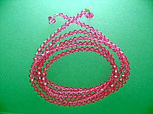 Swarovski Hot Pink Crystal Lariat Necklace 35 Inch (Image1)