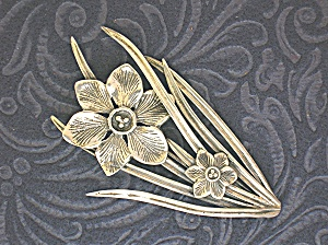 PARENTI Sterling Silver Flower Brooch Pin (Image1)