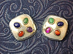 Taxco Mexico Sterling Silver Earrings Signed Fersi