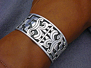 Bracelet Sterling Silver Taxco Eagle 3 Signed Rct Cuff