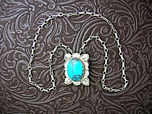 Native American Turquoise Sterling Silver Hearts H.san