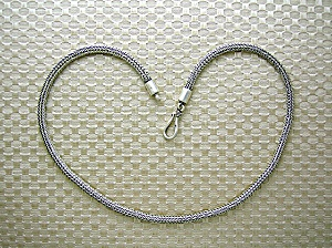 Sterling Silver Thick Chain Necklace Hook Clasp 17 in (Image1)