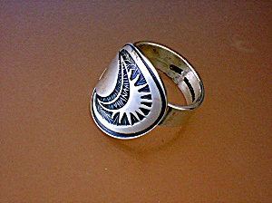 Sterling Silver Sun Ring Signed Mk Mexico 925