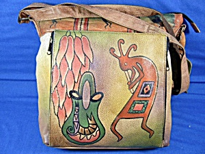Anuschka Medium Leather Kokopelli Travel Bag Anna   (Image1)