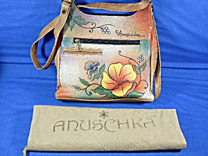 Anuschka Hand Painted Leather Shoulder Bag Dust Bag