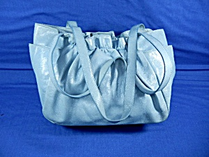 Hobo International Light Blue Ruffle Look Bag