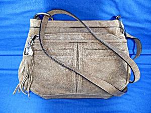 Makowsky Tan Leather Crossbody Bag  (Image1)