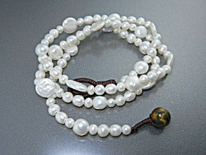 Freshwater Coin Pearls Round Pearl Necklace (Image1)