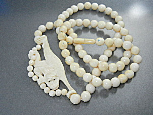 Bone Ivory Monkey Beads Monkey Necklace (Image1)