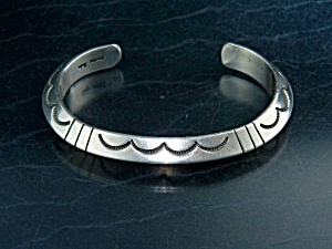 Native American Sterling Silver Cuff Tahe