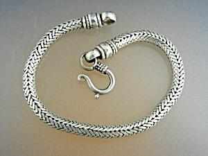 Snake Bracelet Sterling Silver Hook Clasp (Image1)
