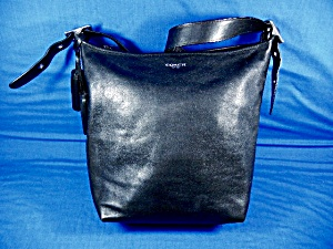 Coach Legacy Black Leather Shoulder Bag New York
