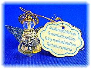 Guardian Angel Gold Wings and Halo Plastic Angel (Image1)