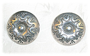 Silver American Indian Clip Earrings (Image1)