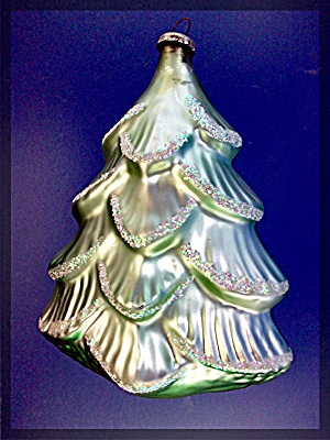 Vintage Glass Christmas tree ornament with  - - -  - (Image1)
