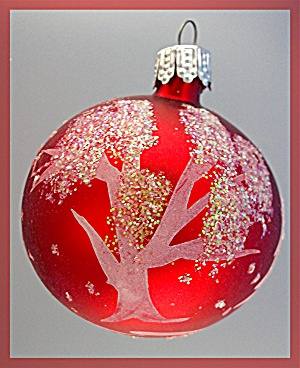 Glass Christmas Tree ornamet balls with glitter 14 (Image1)