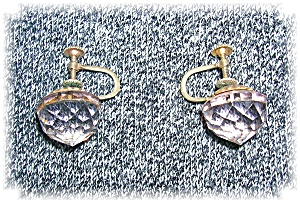 Cut Crystal Goldtone Screwback Earrings (Image1)